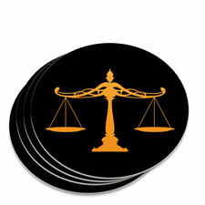 Scales Of Justice Legal Lawyer Novelty Coaster Set