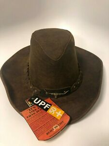 Kakadu Traders 6HW46 Brumby Genuine Leather Hat Brown small size