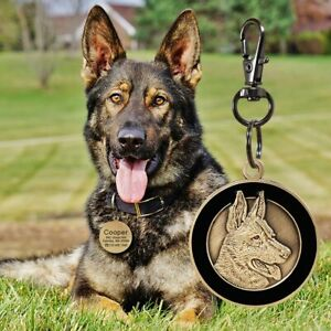 3D Personalized Name Dog ID tags Engraved for Pets Cats Custom Bronze Collar Tag