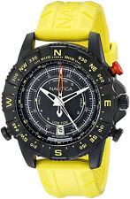 Nautica Men's NSR103 Tide Temp Compass S. Steel Yellow Rubber Watch NAD21000G