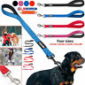 NEW NYLON DOG LEAD With PADDED HANDLE - Choice of Black Blue Red and Pink