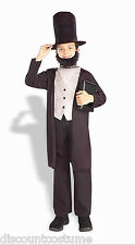 President Abraham Abe Lincoln Book Report Halloween Costume Child Size Small 4-6
