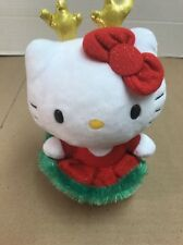 Ty HELLO KITTY Sanrio Reindeer Ears Christmas Plush Kitty