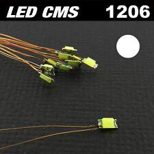 C104# LED CMS pré-câblé 1206 blanc  fil émaillé 5 à 20pcs - prewired LED white