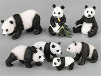 Plastic Simulation Forest Wild Panda Animals Mini Figure Model Kids Gift Toys HT