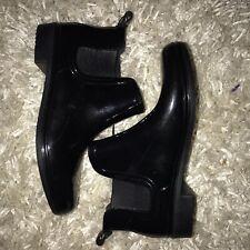 Women's Chelsea Rain Boots - Black Size 6 NWOT