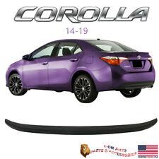 Fits Toyota Corolla Sedan 2014-2019 Oe Factory Style Gloss Black Trunk Spoiler