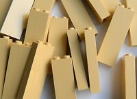 LEGO bricks 1x2x5 (pack of 10) panels # TAN pillar column walls castle