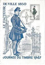 CARTE MAXIMUM 1er Jour N° 1516 - FACTEUR de VILLE en 1850 - NANCY
