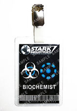 Iron Man Stark Industries Biochemist ID Badge Cosplay Prop Costume Comic Con