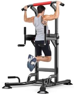 YOLEO Adjustable Power Tower - Multi Function Pull up Station for Strength Train
