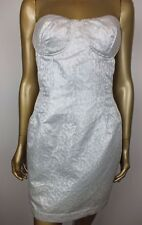 "White Strapless ""Wayne Cooper"" Cocktail / Party Dress, Size 14"
