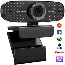 UNZANO HD630 USB Webcam with Microphone 1080P Full HD Web Camera Stream Webcam