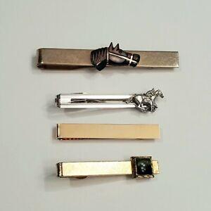 4 pc Vintage Mid Century Tie Bar clip