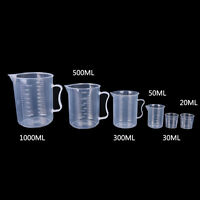 20/30/50/300/500/1000ML Plastic Measuring Cup Jug Pour Spout Surface Kitchen SO