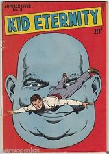 Golden Age KID ETERNITY #2 Quality Comics Group 4.5 VG+