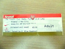 Tickets- 2009 FA Youth Cup Semi Final- ARSENAL v MANCHESTER CITY, 22 April