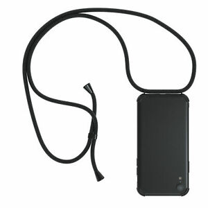 Case Silicone Black With Band To Sling On Chain Cord Mobile Case