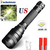 990000Lm XHP70 LED Flashlight Powerful linterna Torch 18650 5 Mode Camping light