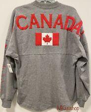 New Disney Parks Epcot World Showcase Canada Spirit Jersey Pullover Top Shirt S