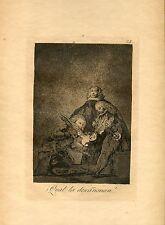 GOYA «Que la descañonan» Grabado (engraving) original nº21  Caprichos (Caprices)