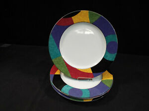 """4 Mikasa Currents 10 7/8"""" Dinner Plates Very Good Condition"""