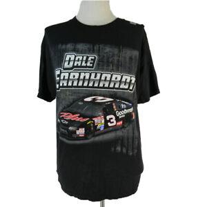 Dale Earnhardt t-shirt adult large black NASCAR racing Short sleeve vintage