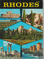 Greece Rhodes Dodecanese Islands Vintage Photography Map Eng