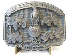 J I Case 150th Anniversary 1992 Eagle Globe Logo Tractor Backhoe Car Belt Buckle