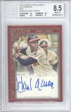 New listing HANK AARON 2015 TOPPS GYPSY QUEEN RED AUTO /5 BGS 8.5 10 ATLANTA BRAVES