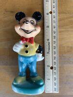 "Vintage Disney Mickey Mouse Porcelain Ceramic 6"" Statue Figurine"