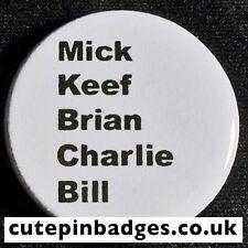 "Rolling Stones Badge (25mm/1"") Pin Button Jagger Brian Jones Keith Richards Rock"