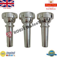 Professional Silver Plated Bb Bugle Mouth Pieces Various Bores Brass Horns