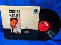 Costas Hadjis LP S/T Self-Titled PI PI-LPM-6 Greek Music USA Pressing
