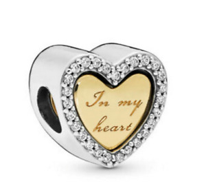 New Authentic Sterling Silver 767606CZ  In My Heart Split Heart S925 ALE Charm