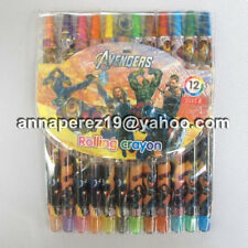 24% off! 12 pcs THE AVENGERS TWIST-UP RETRACTABLE ROLLING CRAYONS IN PACK!