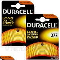 2 x Duracell Silver Oxide 377 1.5V batteries watch D377 V377 SR66 SR626SW D376