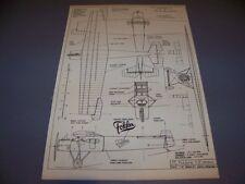 VINTAGE..1919 FOKKER F.II LIMOUSINE...4-VIEWS/SPECS/LOGO/DETAILS...RARE! (#384)