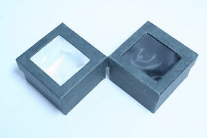 Black Gift Box with Window 7cmx7cmx5cm