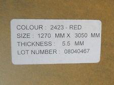 "2423 Red Translucent Acrylic Plexiglass 5.5mm Thick X 49"" X 59"" Sign Fabrication"