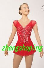 Ice Figure Skating Dress/Competition Twirling  Acrobatics Dress Stones on 8938-2