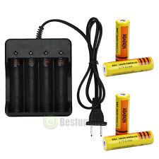 4PCS 5000mAh 18650 Rechargeable Battery 3.7v Li-ion+ AC 4 Slot Charger US SHIP