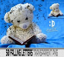 50 FALLING LETTERS TRANSPARENT PNG PHOTOSHOP OVERLAYS BACKDROPS BACKGROUNDS
