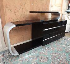 Introvabile Como' Design anni '50/60 Pierre Cardin. nero e alluminio