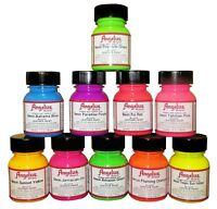 Angelus Neon Acrylic Leather Paint |select a color | 1 fl.oz