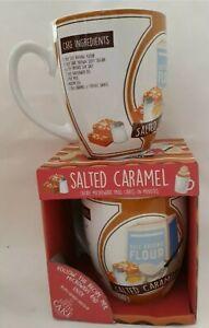 3 × Salted Caramel Cake in a Mug  Follow Recipe on Mug, Mix, Microwave and Enjoy