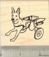 Dog in Wheelchair Rubber Stamp J11316 WM cart for dogs