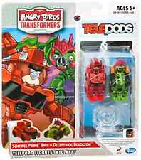 Angry Birds Transformers Telepods Sentinel Prime Bird vs Deceptihog Bludgeon Set