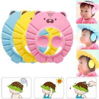 Adjustable Baby Wash Shampoo Cap Waterproof Ear Caps Kid Cartoon Shower Cap