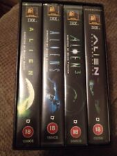 The ALIEN Saga Vhs Video 4 Tape Collection Box Set - Rated 18